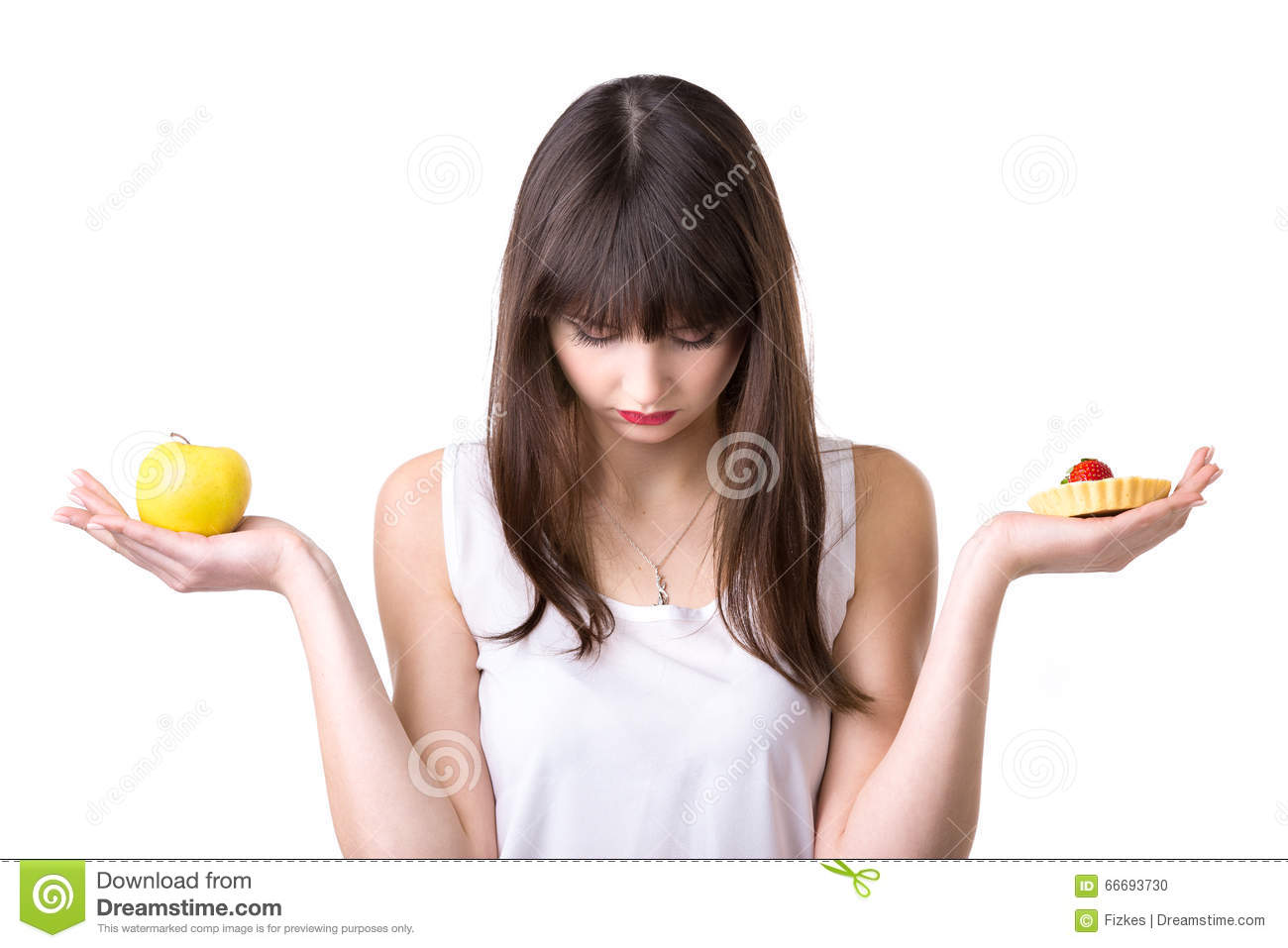 Food choice for dieting woman