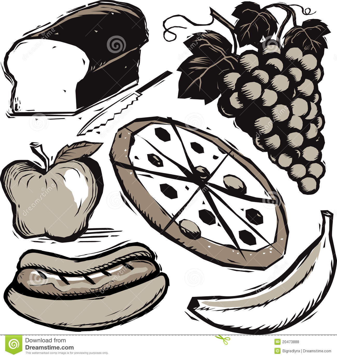 Food Clip Art Stock Vector Illustration Of Collection
