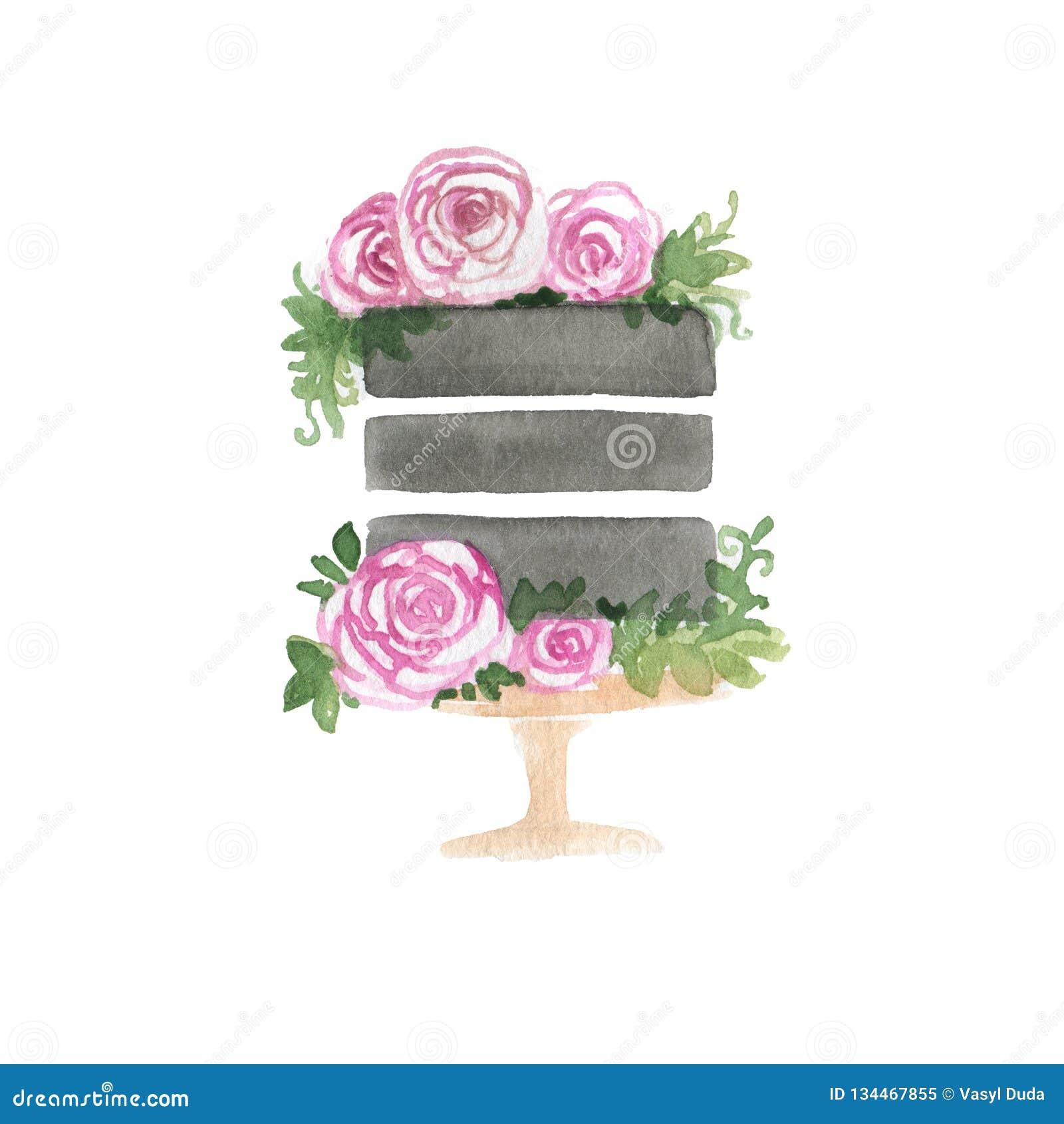 Food Clipart stock illustration. Illustration of floral ...