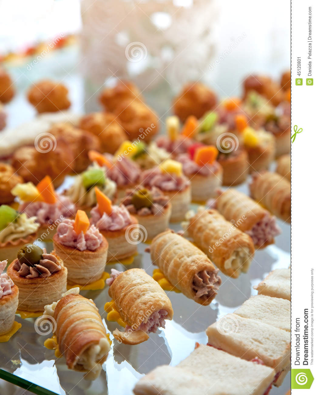 Wedding Cocktail Food Ideas: Food For Cocktail On Wedding Party Stock Image