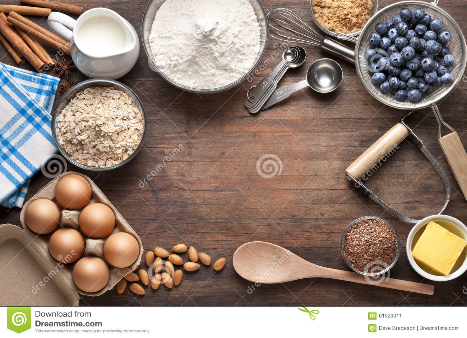 Food Cooking Baking Background Stock Image - Image of ...