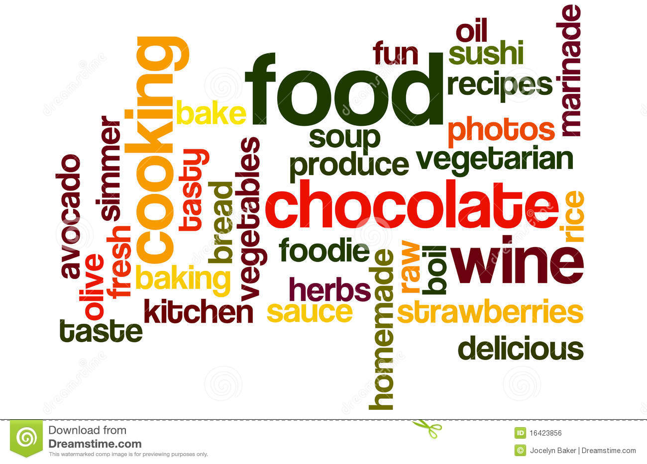 Food and cooking wordcloud royalty free stock image for Cuisine words