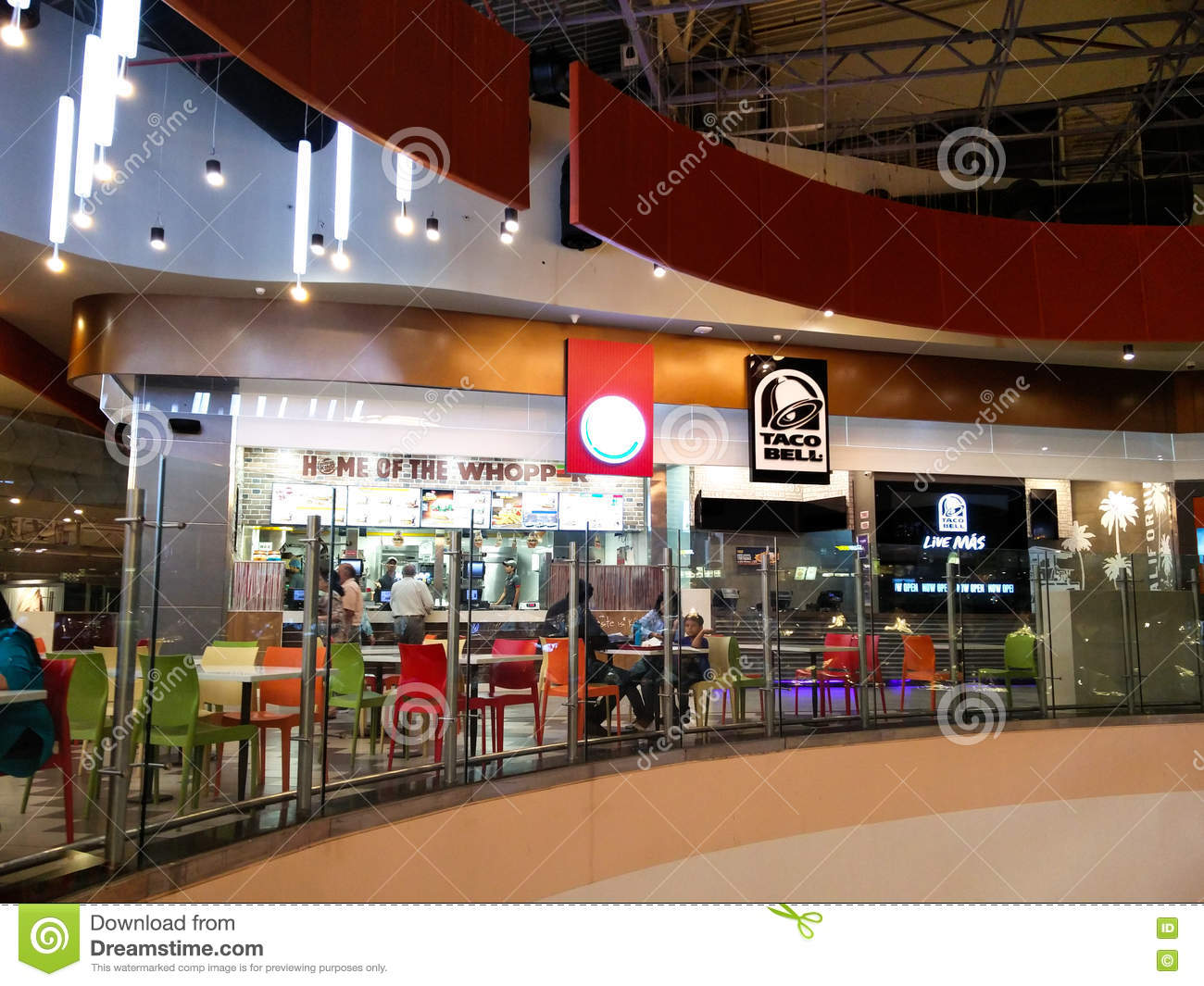 Food Court At A Shopping Mall In Noida Delhi Editorial Stock