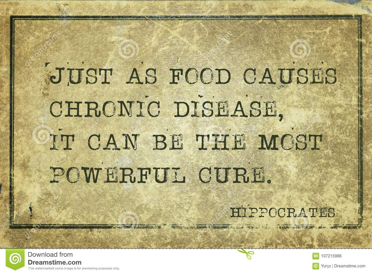 Food cure Hippocrates stock photo  Image of most, grunge - 107215986