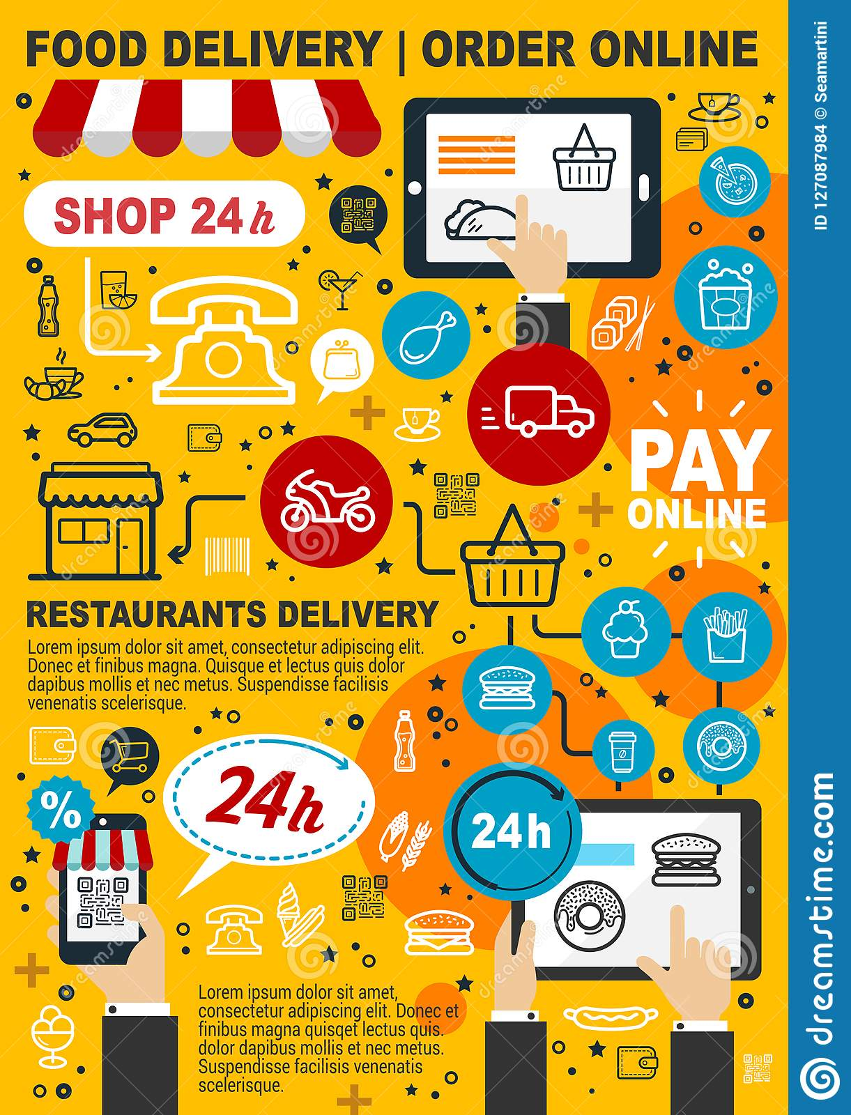 delivery food service drinks shopping mobile drink order takeaway pay preview