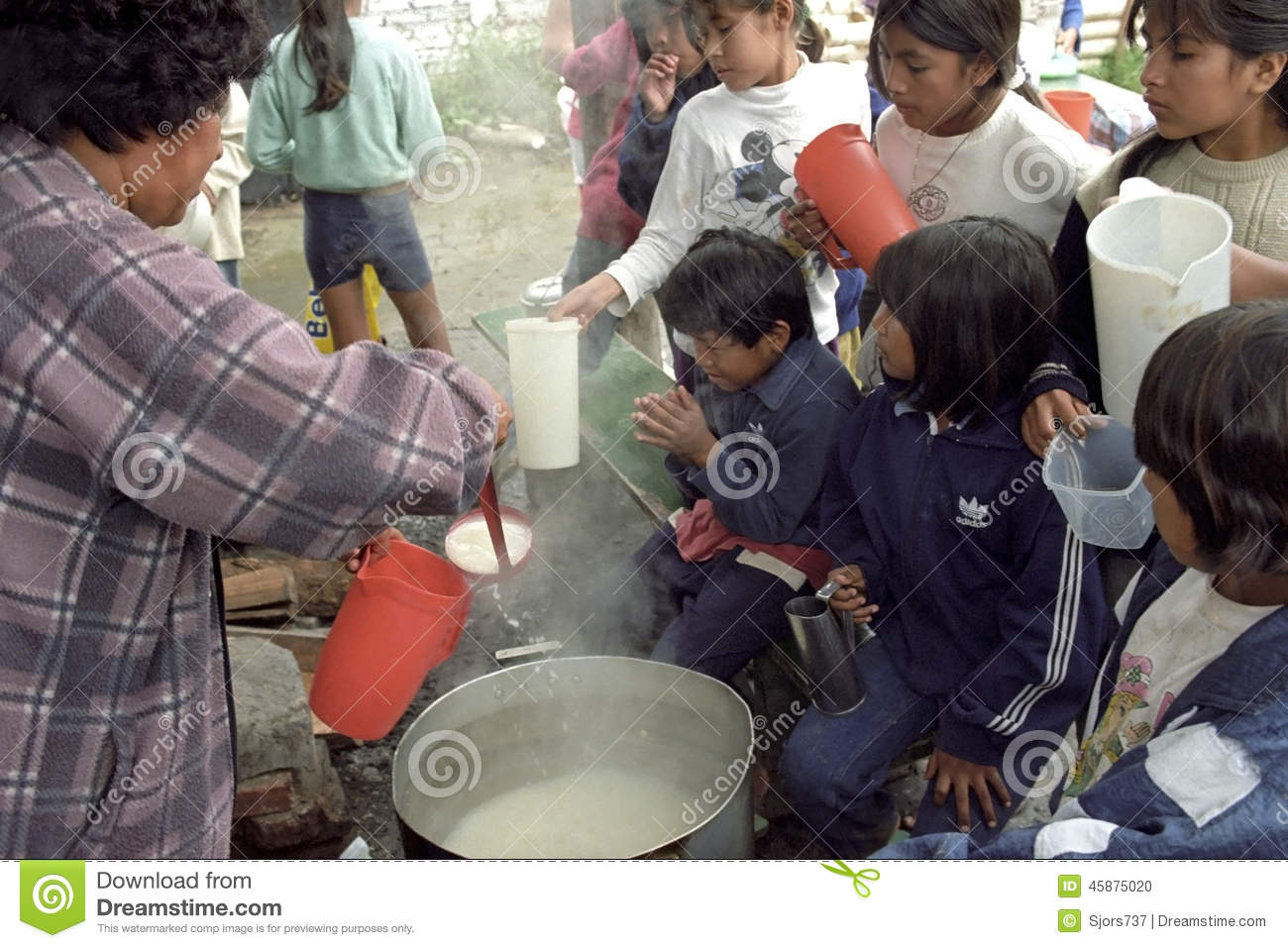 Food Distribution on Indian children in the Andes