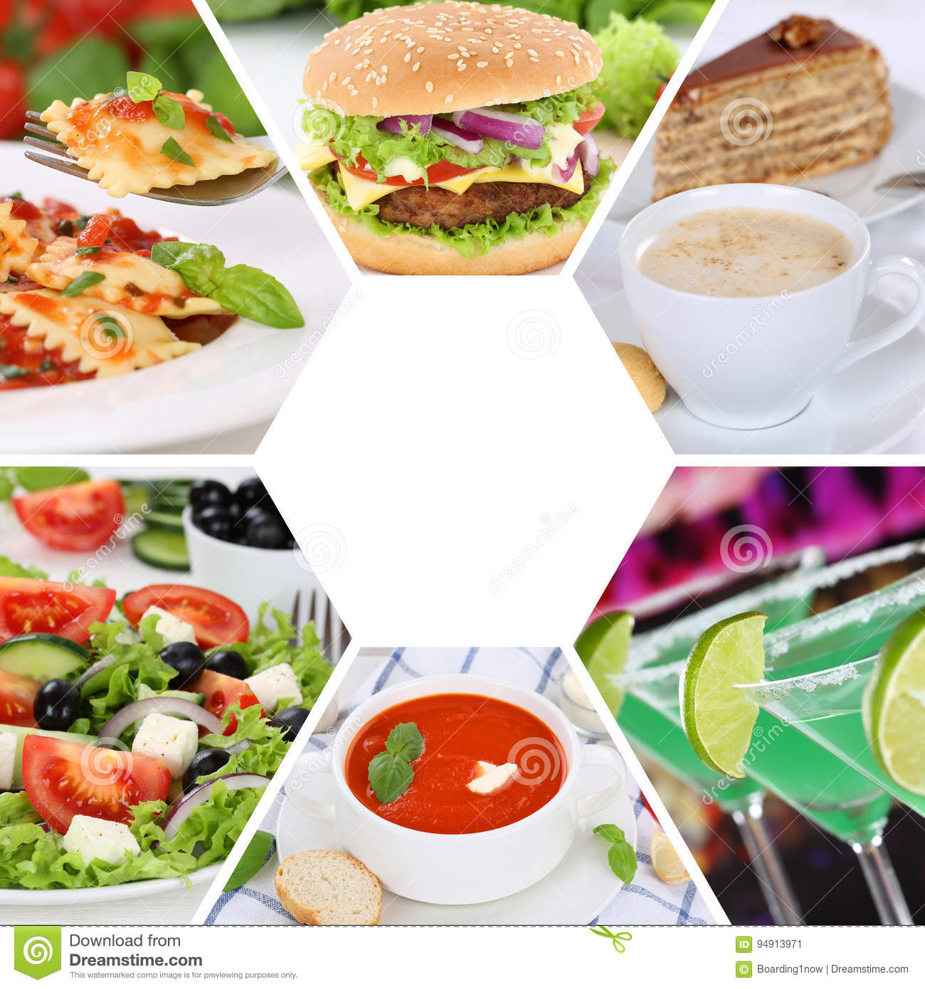 Food And Drink Collection Collage Eating Drinks Meal Meals