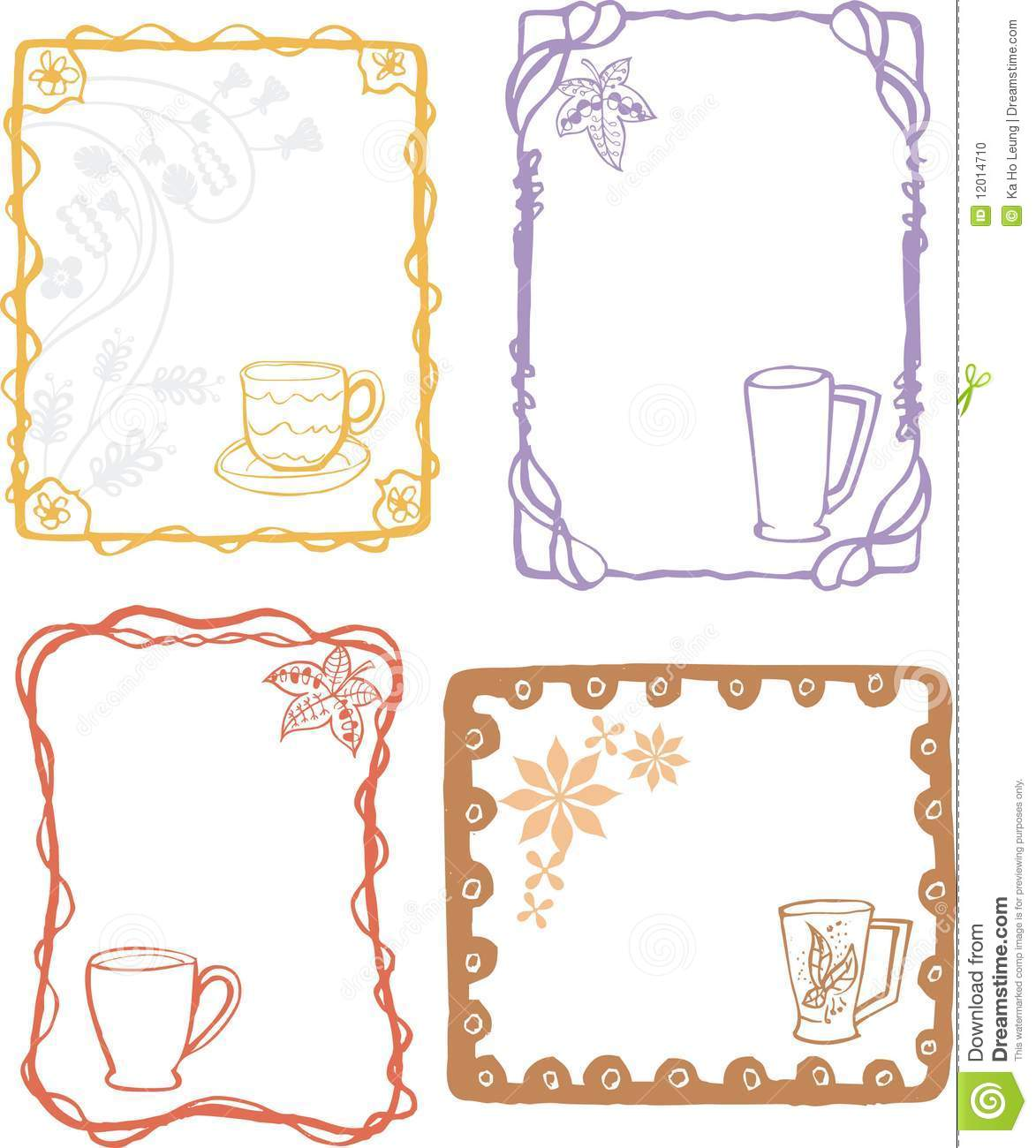 Food And Drink Frame Stock Vector Illustration Of White