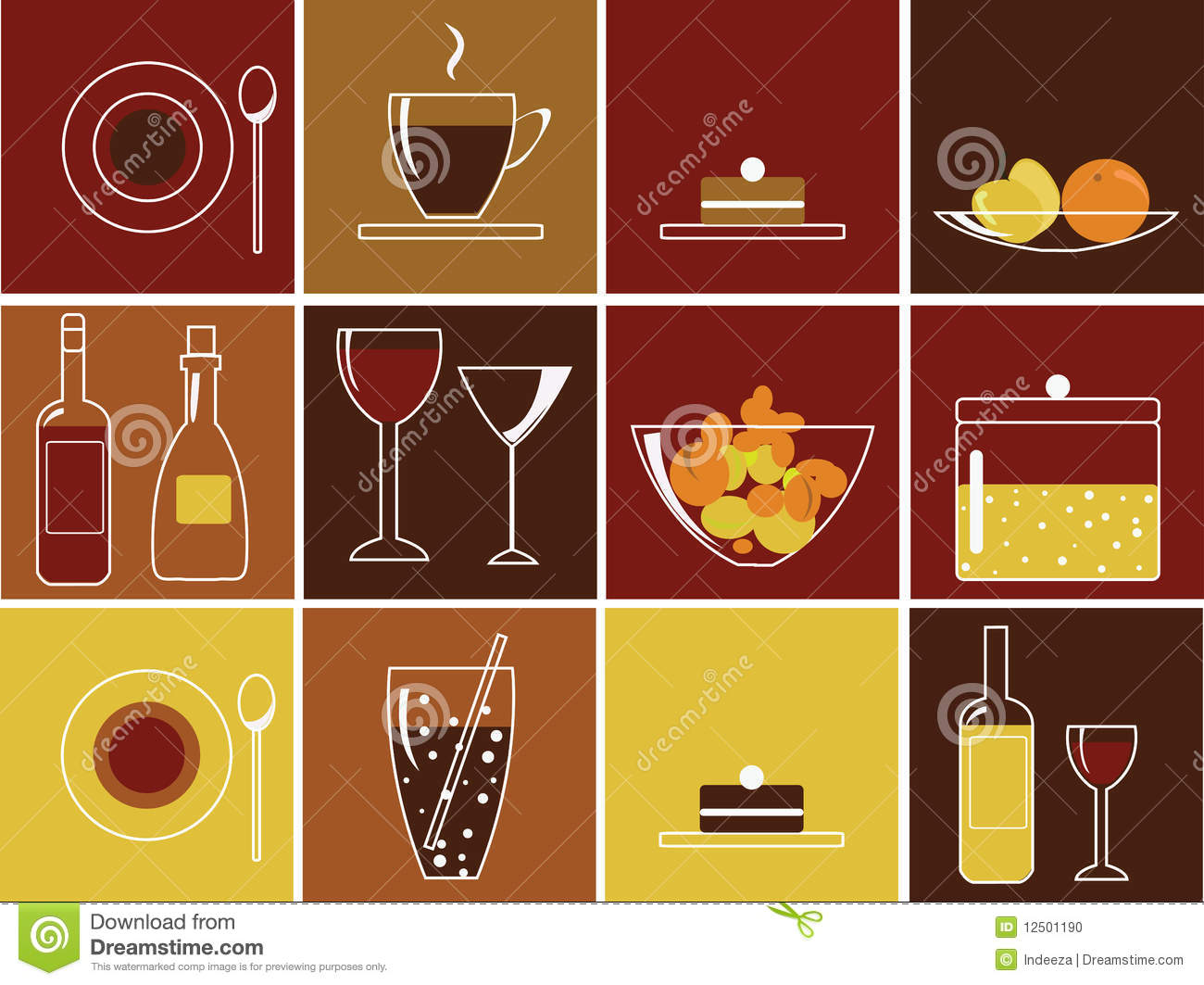 drink food icons preview