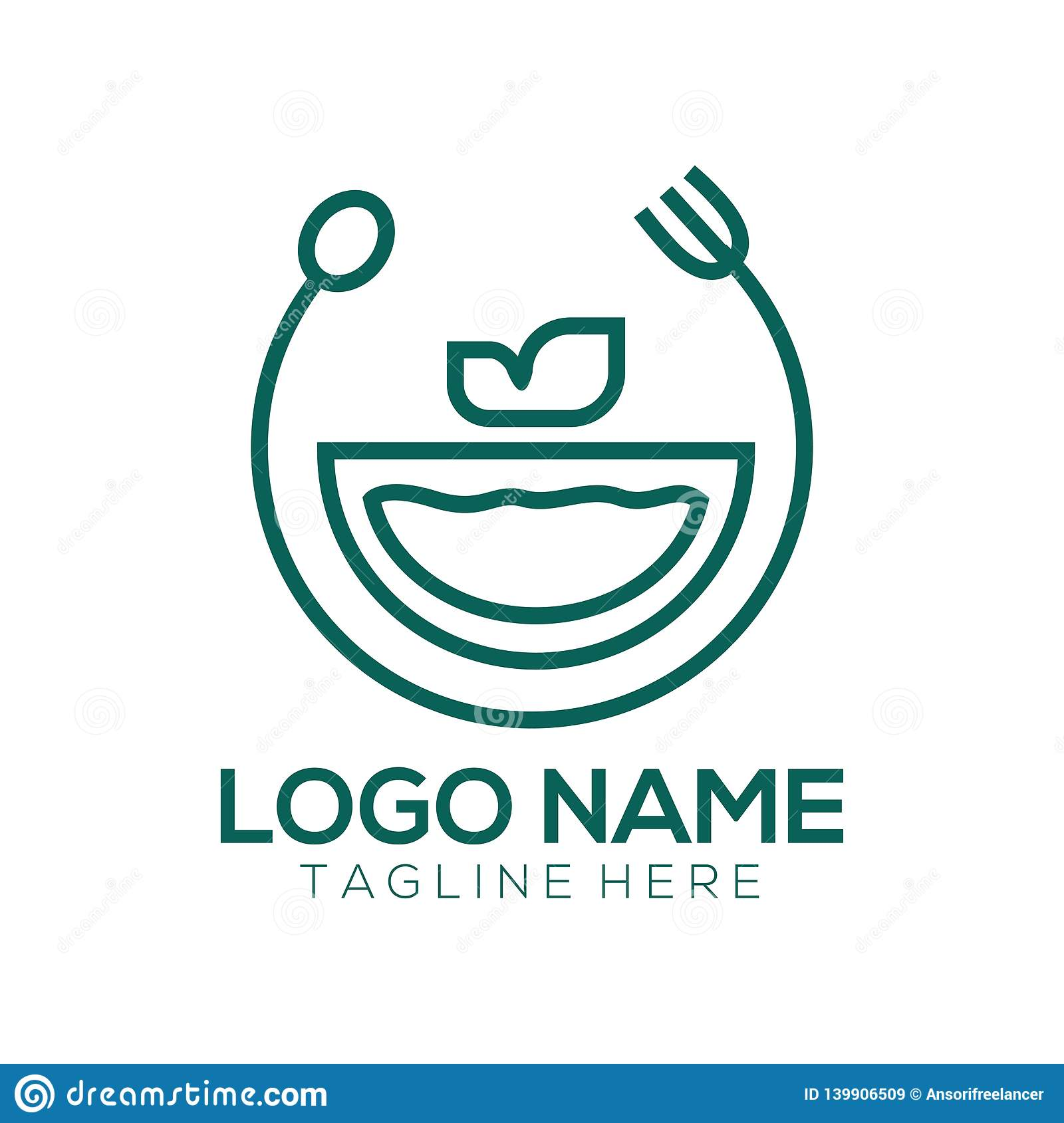 Food And Drink Logo And Icon Design Stock Vector - Illustration of