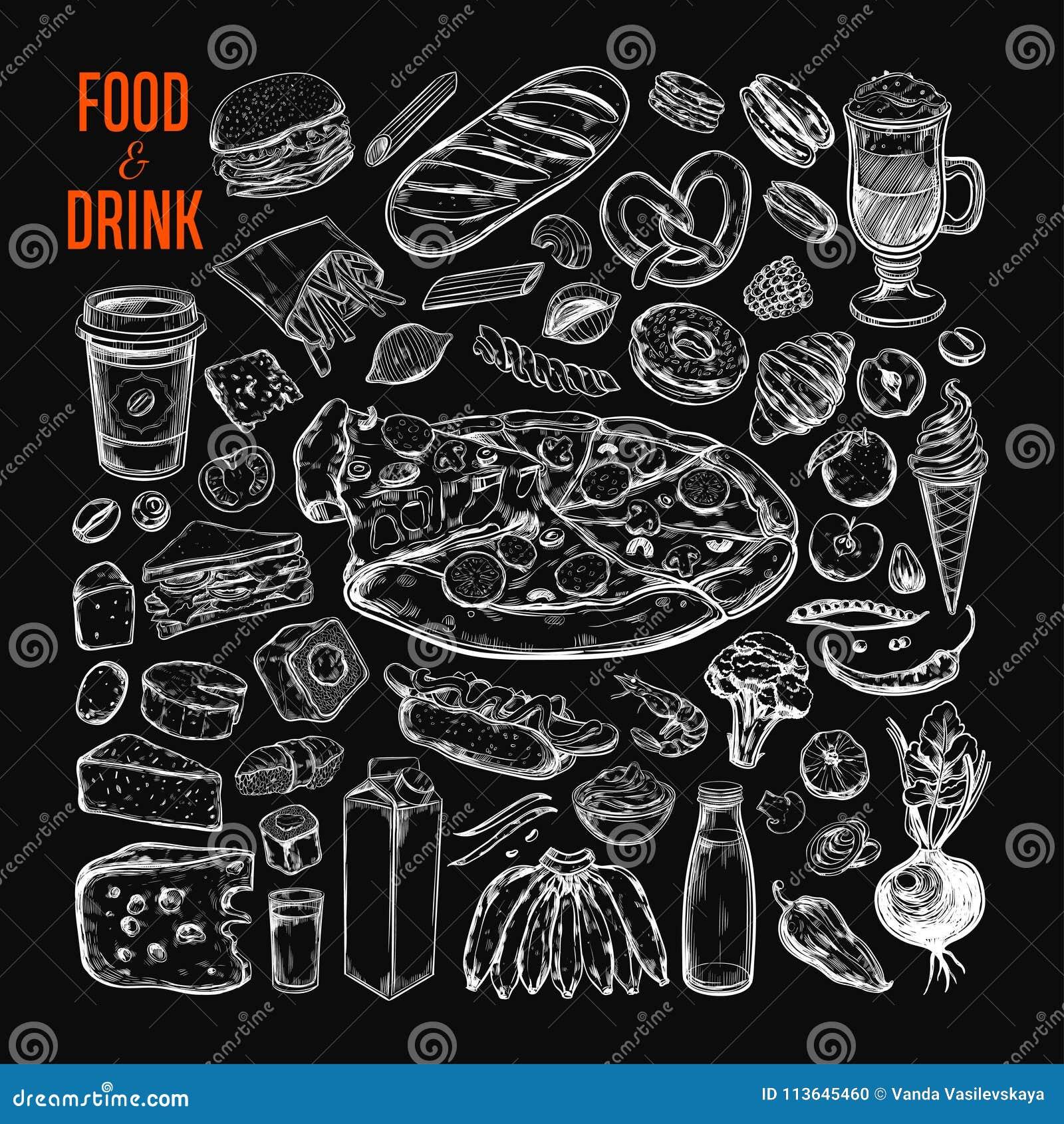Food and Drink vector big set