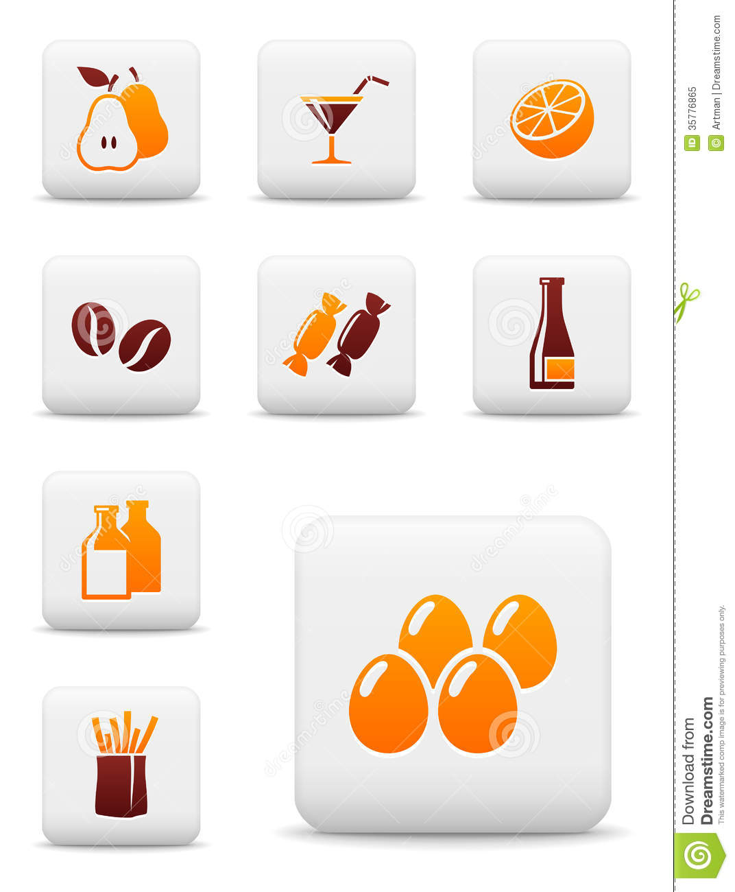 food drink vector icons royalty