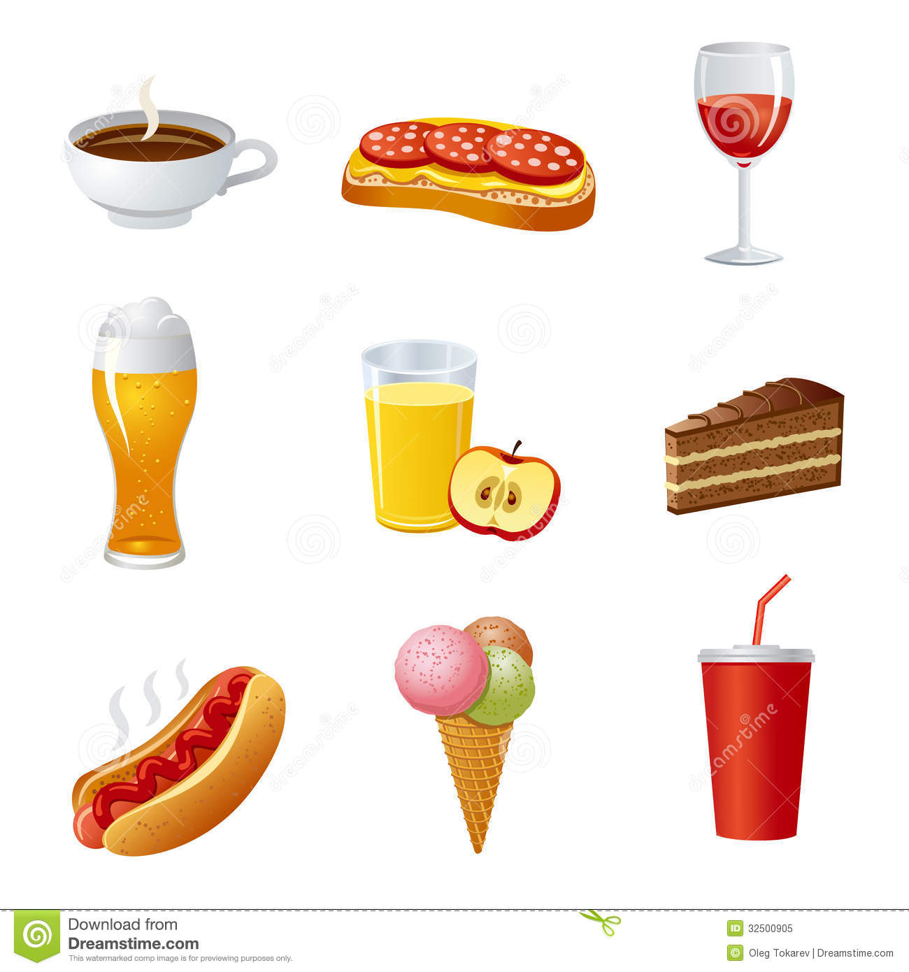 drinks icons different icon royalty illustration preview