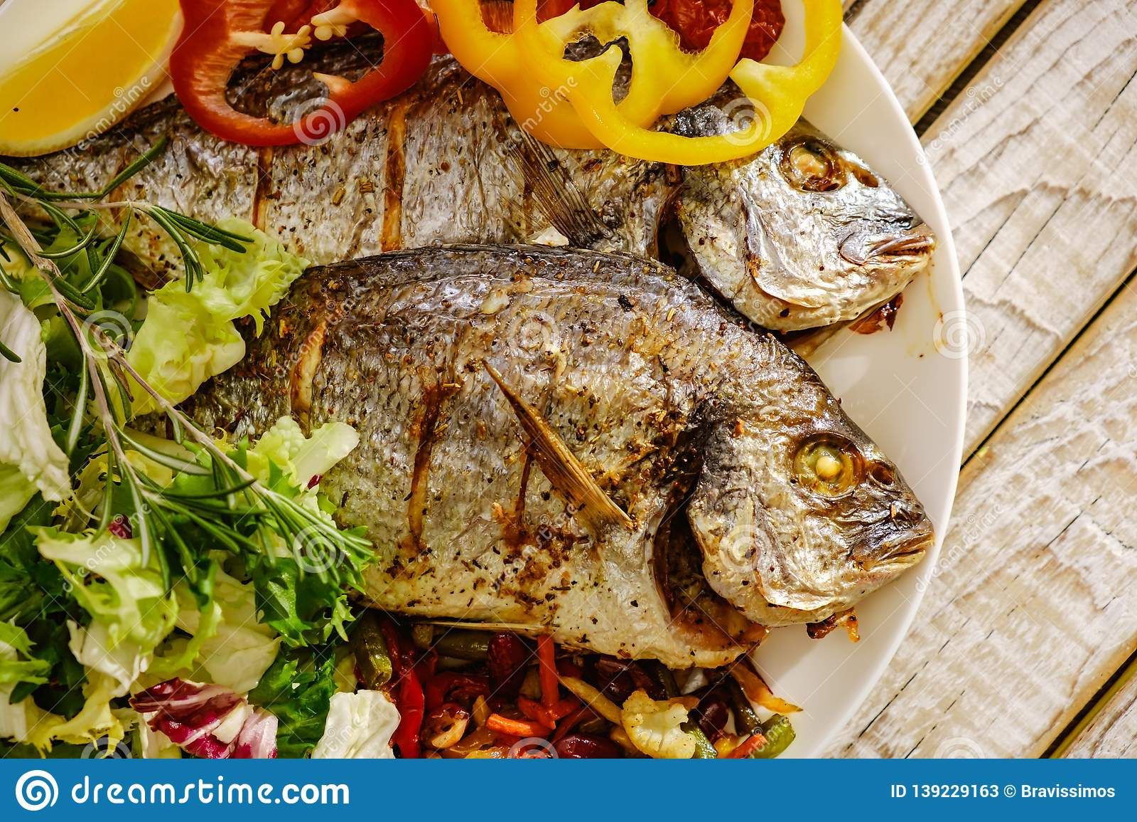 Food Fish Fresh Dorado, Meal Seafood Dinner, Raw Delicious ...