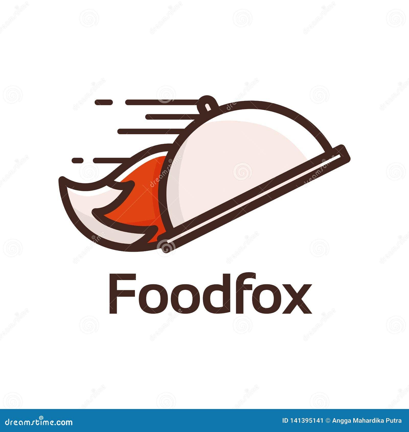 Food fox logo stock illustration  Illustration of breakfast - 141395141