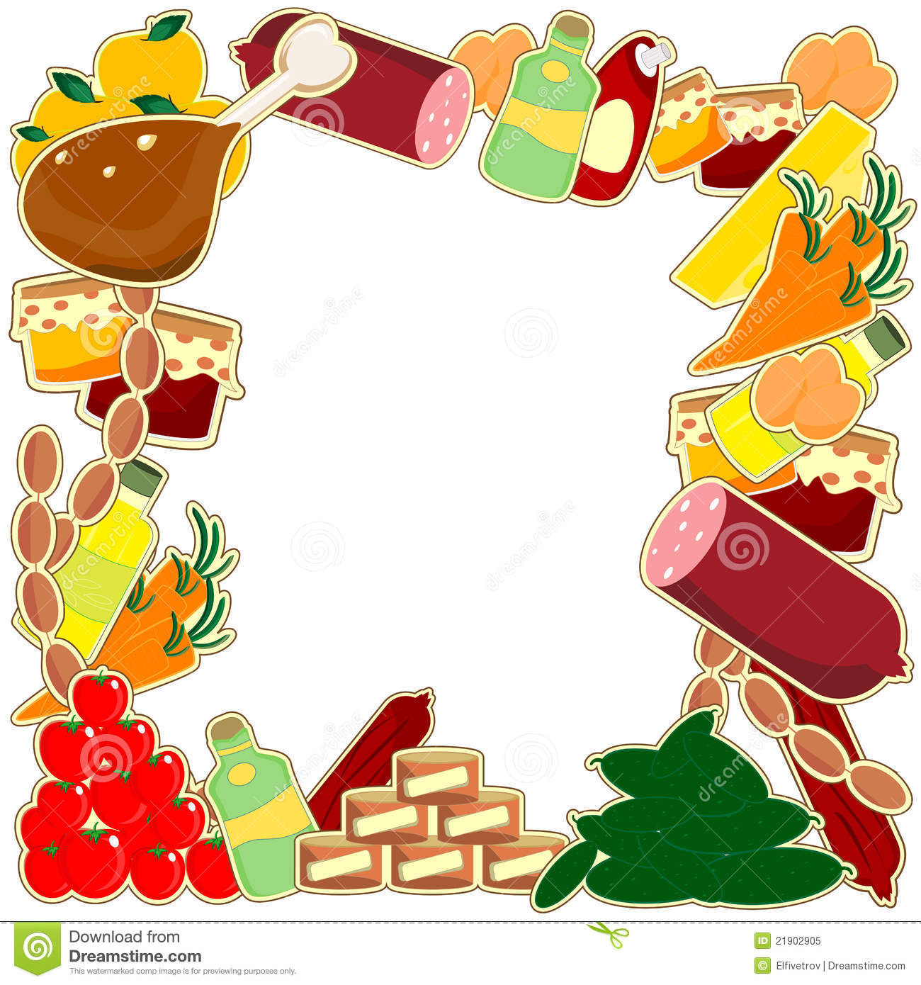 Food Frame Royalty Free Stock Photo - Image: 21902905