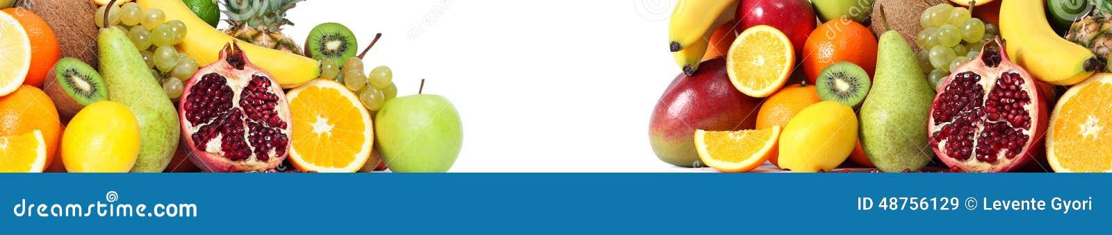 Food fruits banner