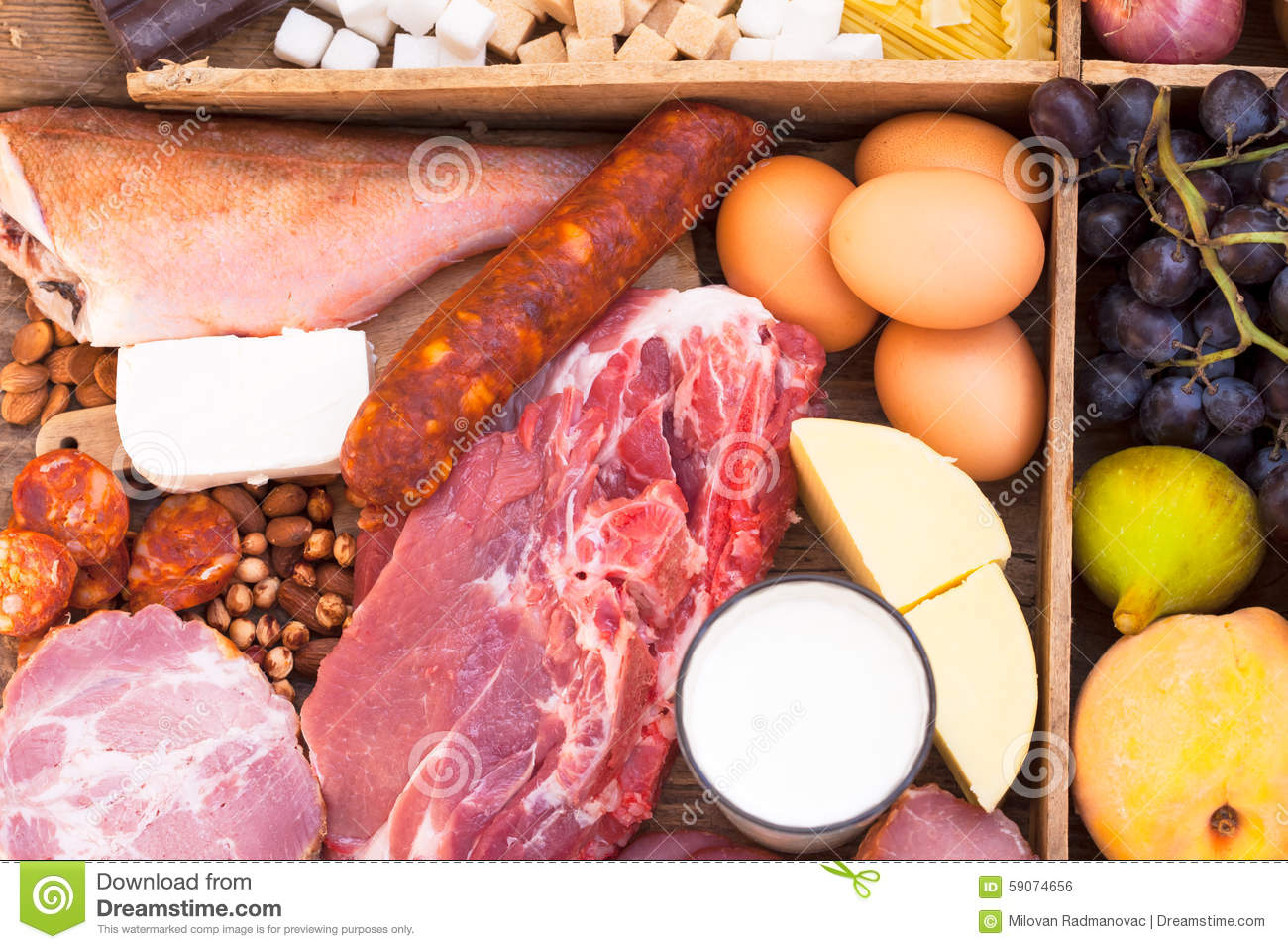Food full of proteins stock photo image 59074656 for Fish eggs food