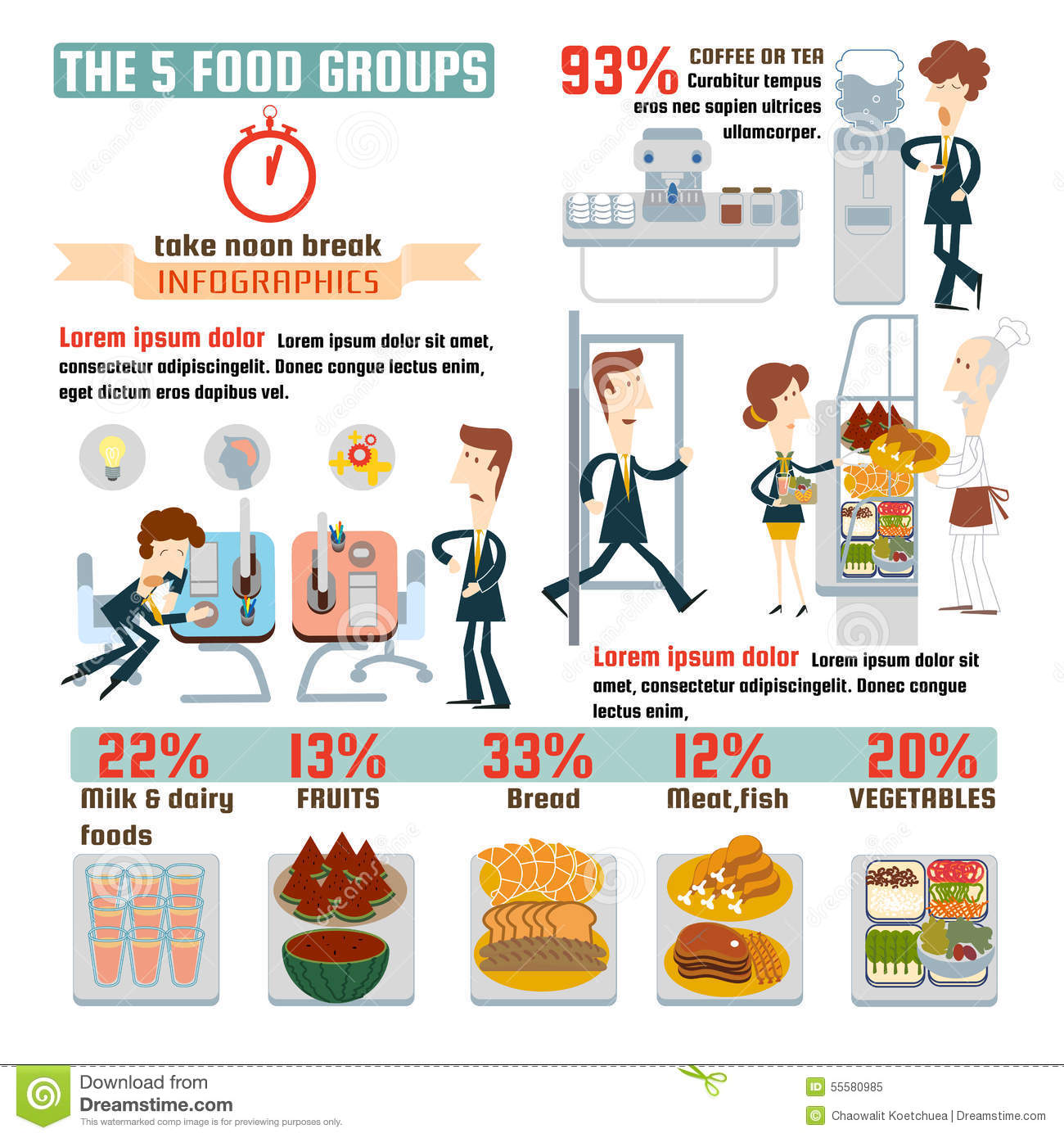 The food groups stock illustration illustration of food 28736894 the 5 food groups infographics royalty free stock photo nvjuhfo Gallery