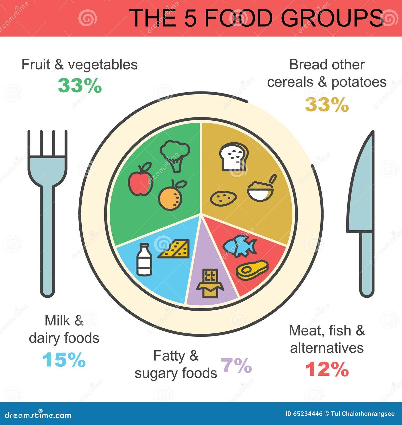 The food groups stock illustration illustration of food 28736894 the 5 food groups royalty free stock image nvjuhfo Gallery