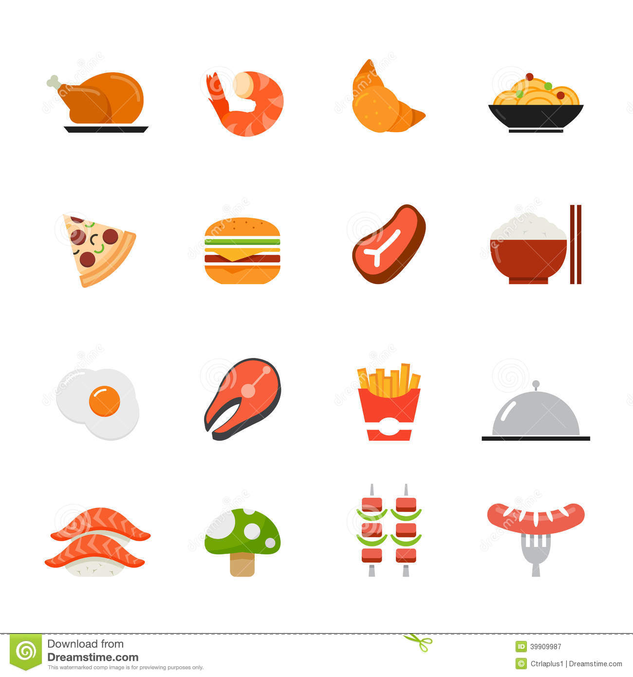 Food Icon. Flat Full Colors Design. Stock Vector - Image: 39909987: www.dreamstime.com/royalty-free-stock-photography-food-icon-flat...