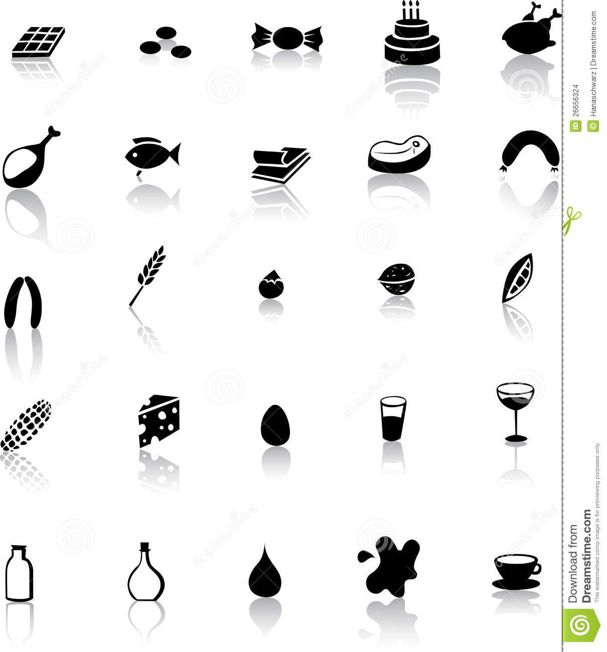 Food Icon Meat And Milk Products Stock Vector Image