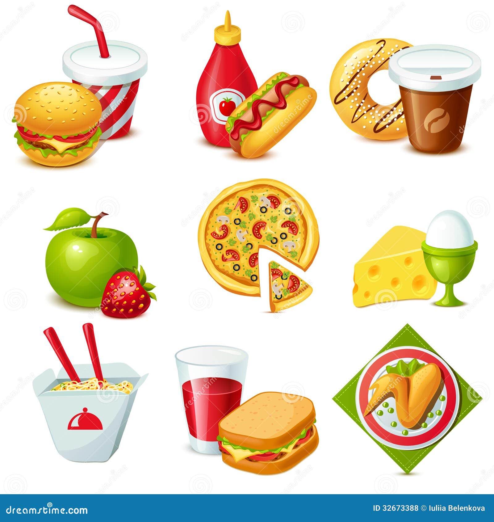 set of 9 colorful food icons mr no pr no 4 2830 17