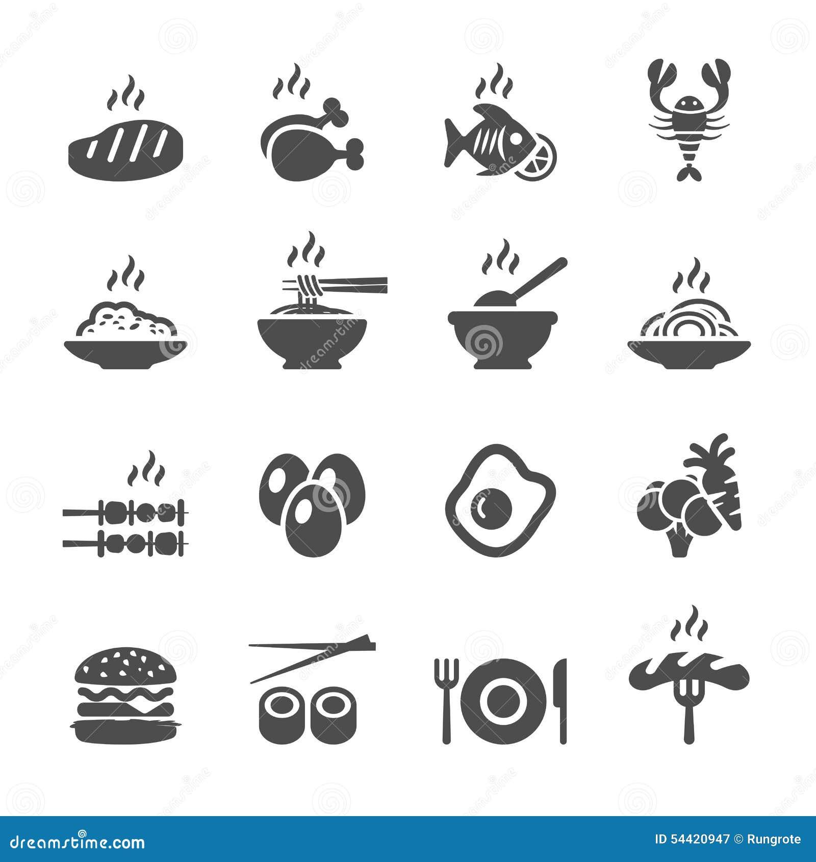 Food icon set, vector eps10
