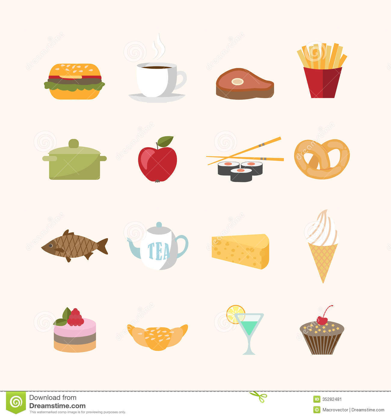 Vector Food Icons Food icons in flat style stock: galleryhip.com/vector-food-icons.html