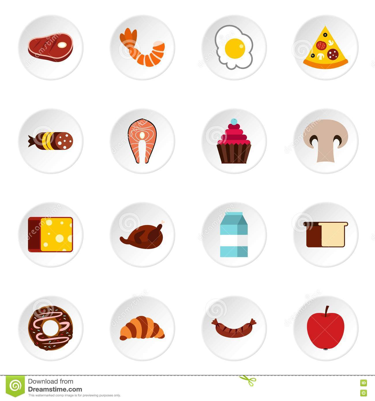 health food icons in a flat style stock photography