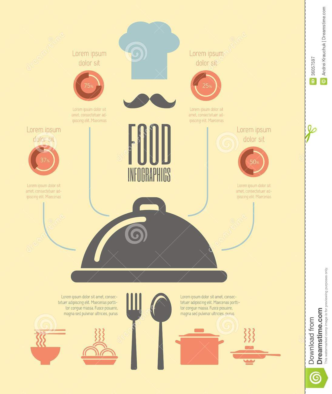 Food Infographic Template. Royalty Free Stock Photography - Image ...