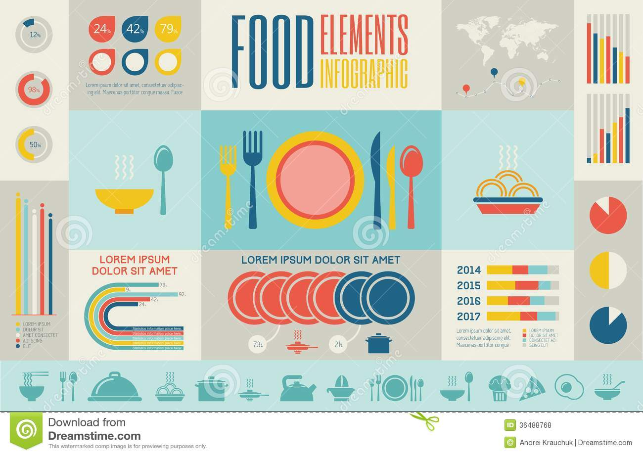 Food Infographic Template Royalty Free Stock Photos