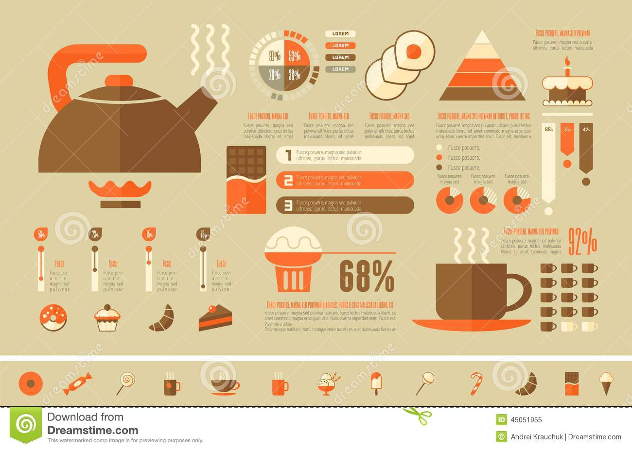 Food Infographic Template. Stock Vector - Image: 45051955