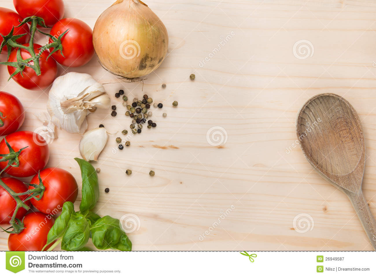 food ingredients background royalty free stock photography