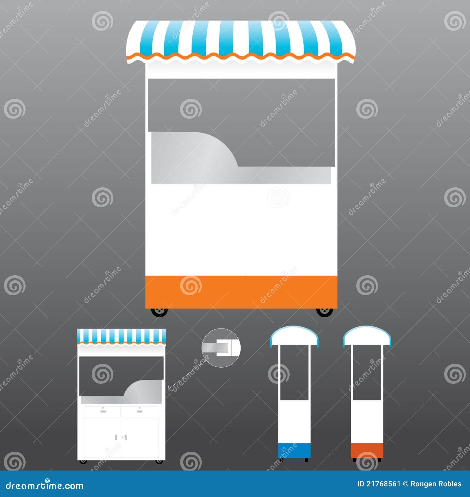 Food Kiosk Template stock illustration  Illustration of