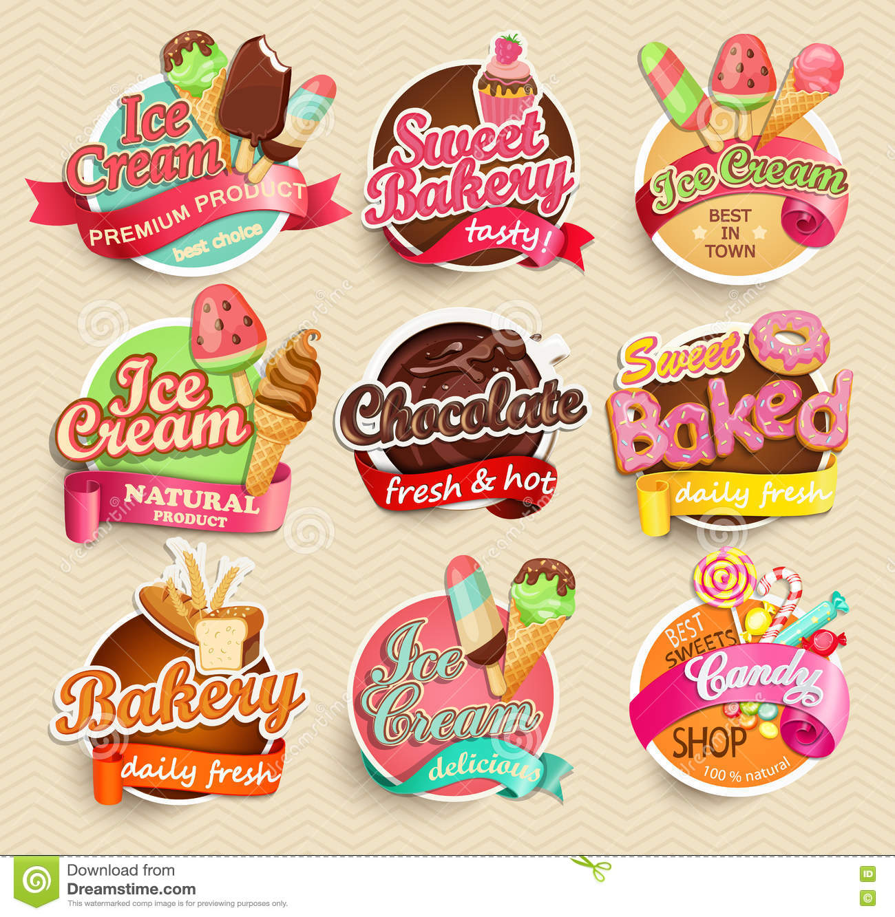 Food Label And Sticker. Stock Vector - Image: 71510124