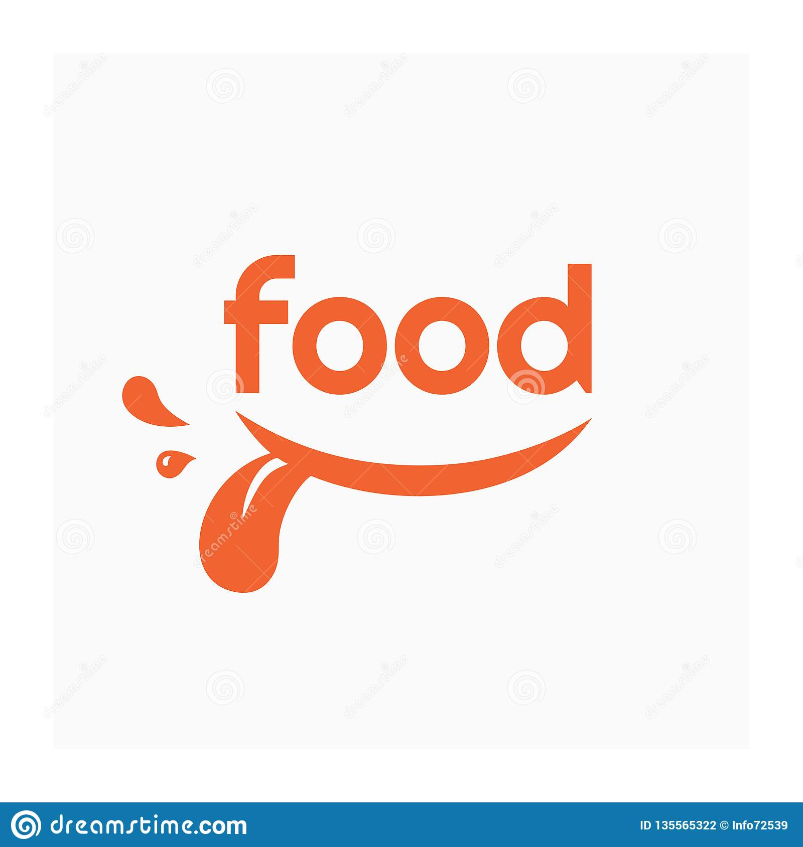 Food Logo With Smile Label For Food Company Stock Vector Illustration Of Expression Grocery 135565322