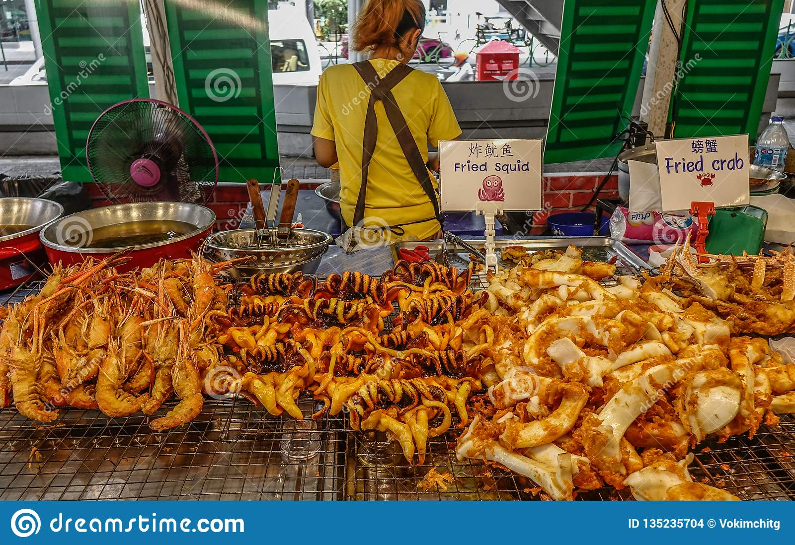 Food Market In Bangkok, Thailand Editorial Stock Image