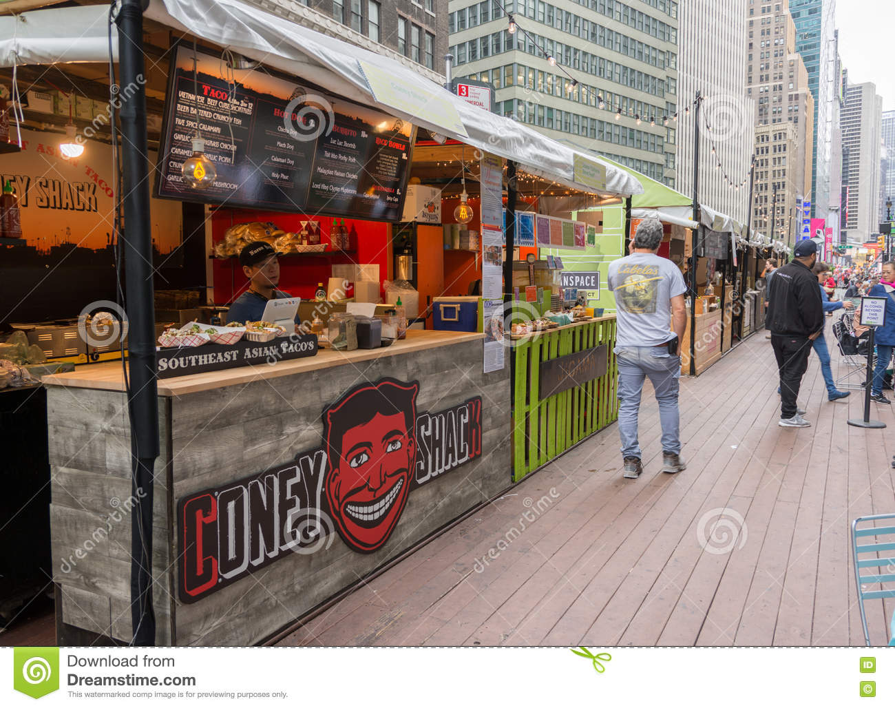 Food Market On Broadway, New York City Editorial Photography