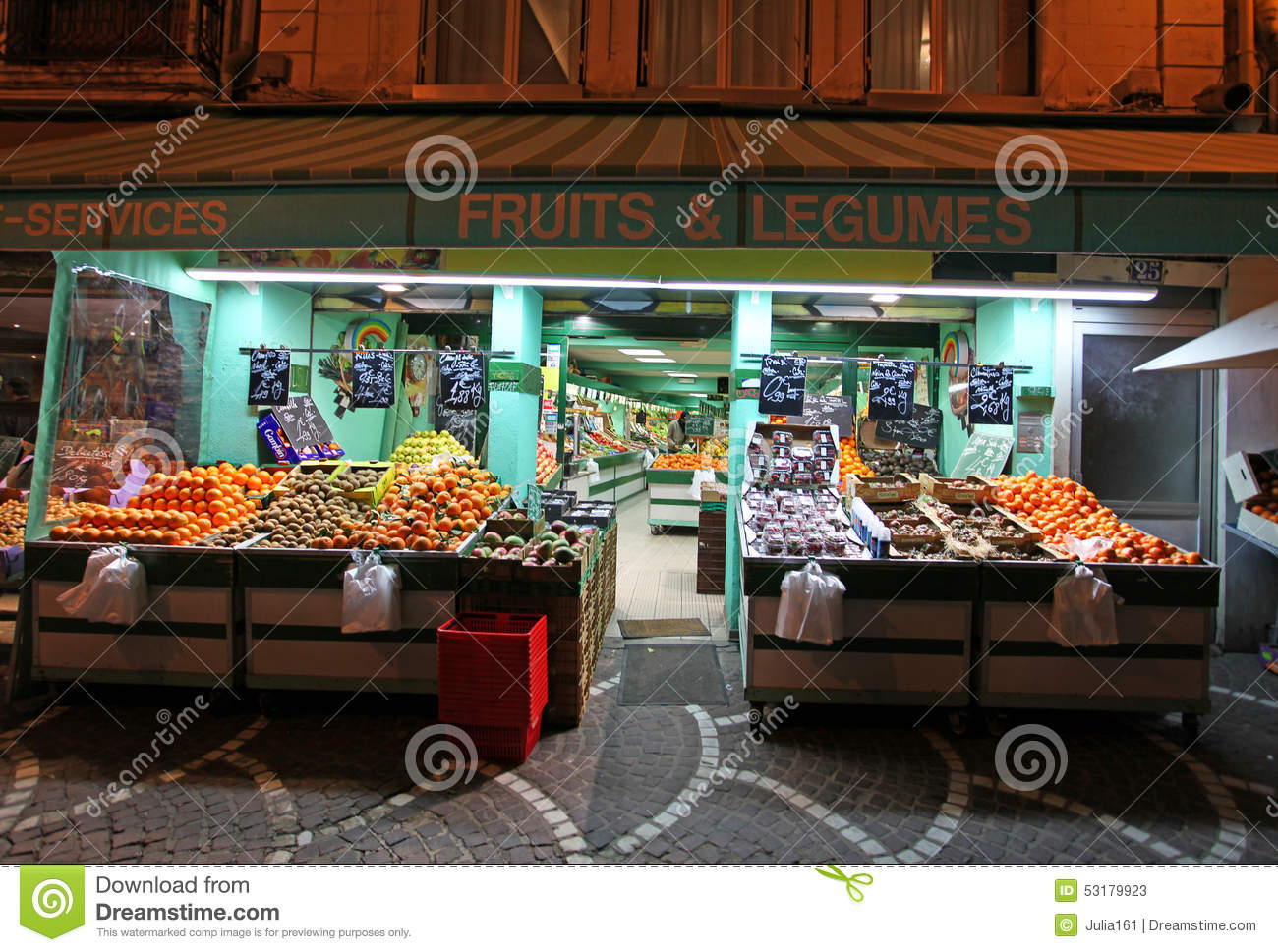 food market in saint etienne france editorial stock photo image 53179923. Black Bedroom Furniture Sets. Home Design Ideas