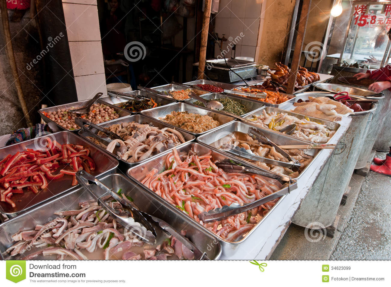 Food Market In Shanghai Royalty Free Stock Images - Image ...