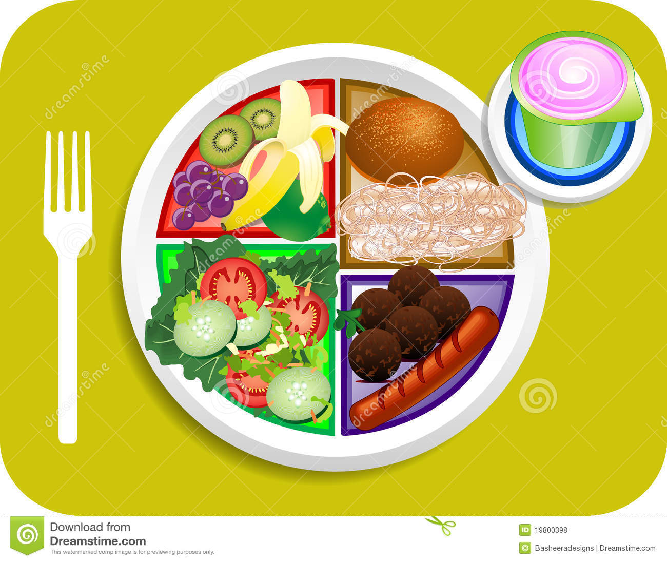My Plate Diet Nutrition Guide Stock Photos - Image: 21538543