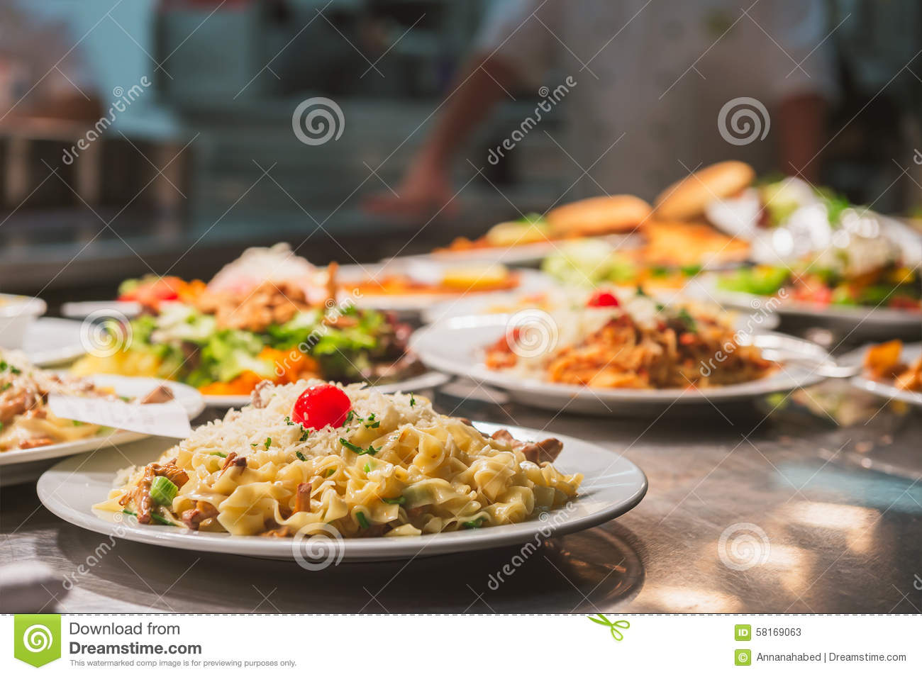 Food Orders On The Kitchen Table Stock Image Image Of Table Kitchen 58169063