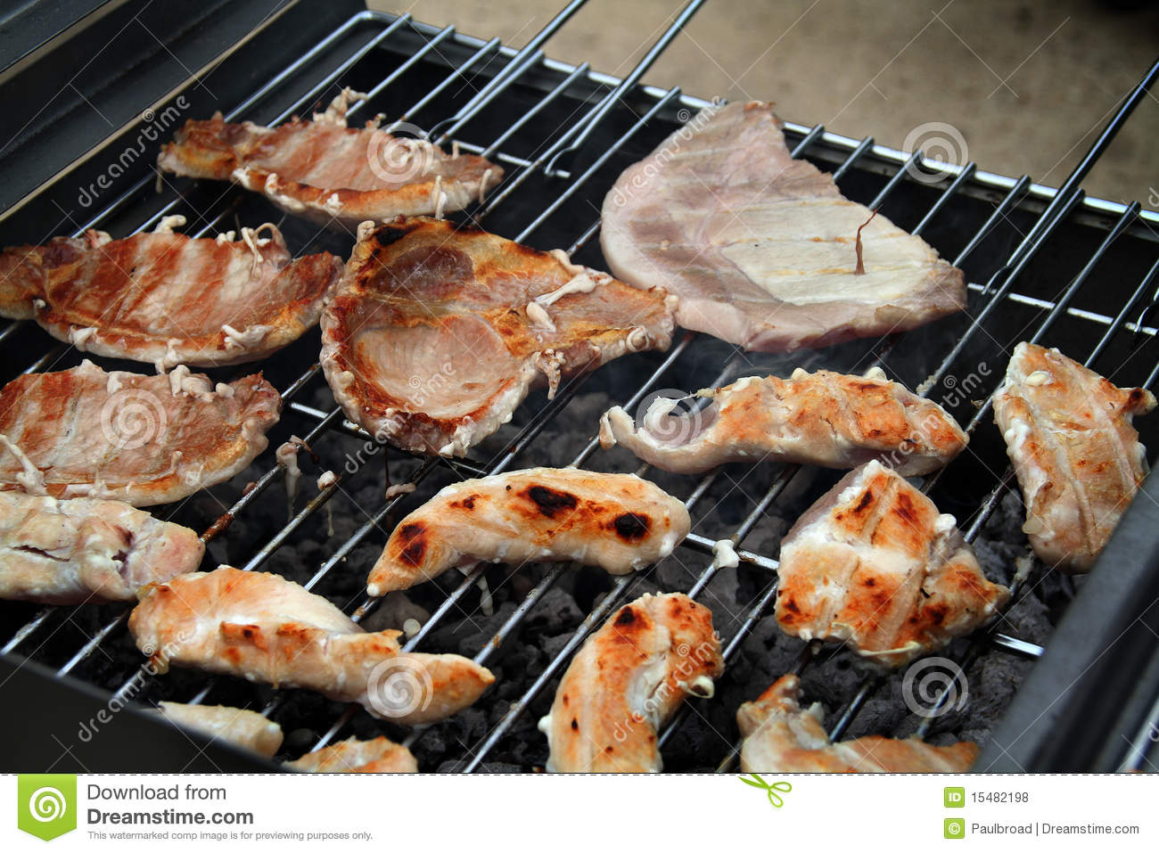 Food on outdoor bar b que royalty free stock photos for Meal outdoors