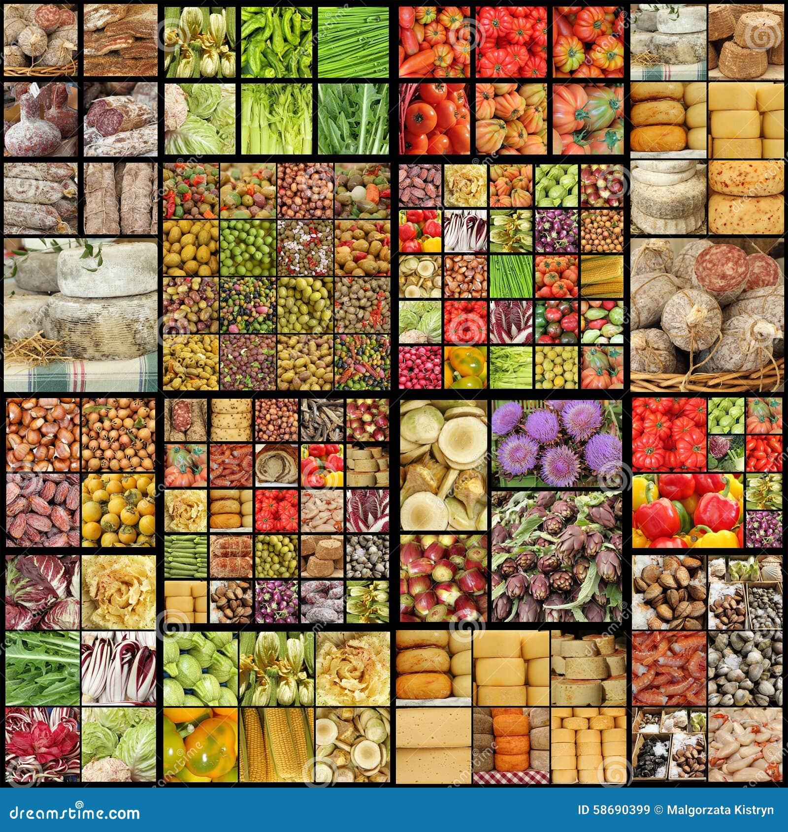 Food Pattern Stock Photo - Image: 58690399