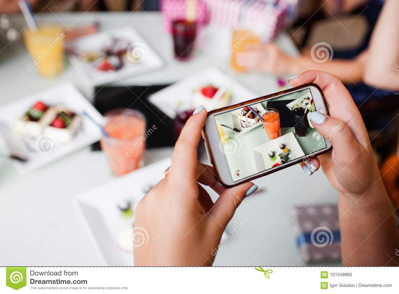 Food picture for social media. Modern lifestyle