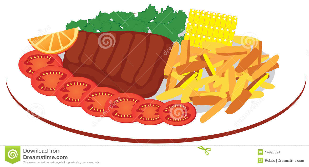 Food Plate Clipart food plate stock images - image: 14996394