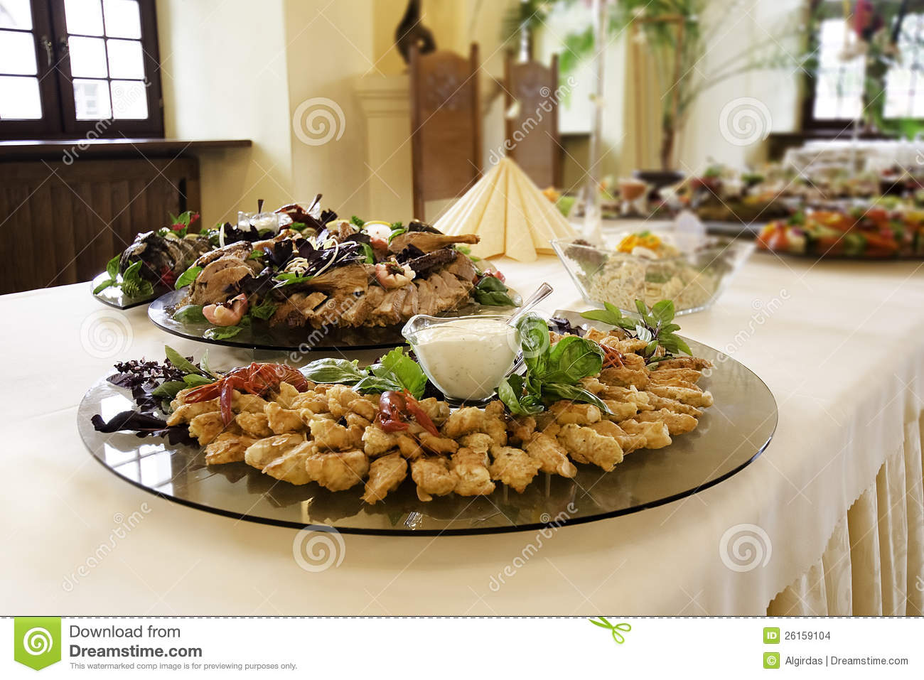 Food platters at reception stock images image 26159104 - Decoratie snack ...