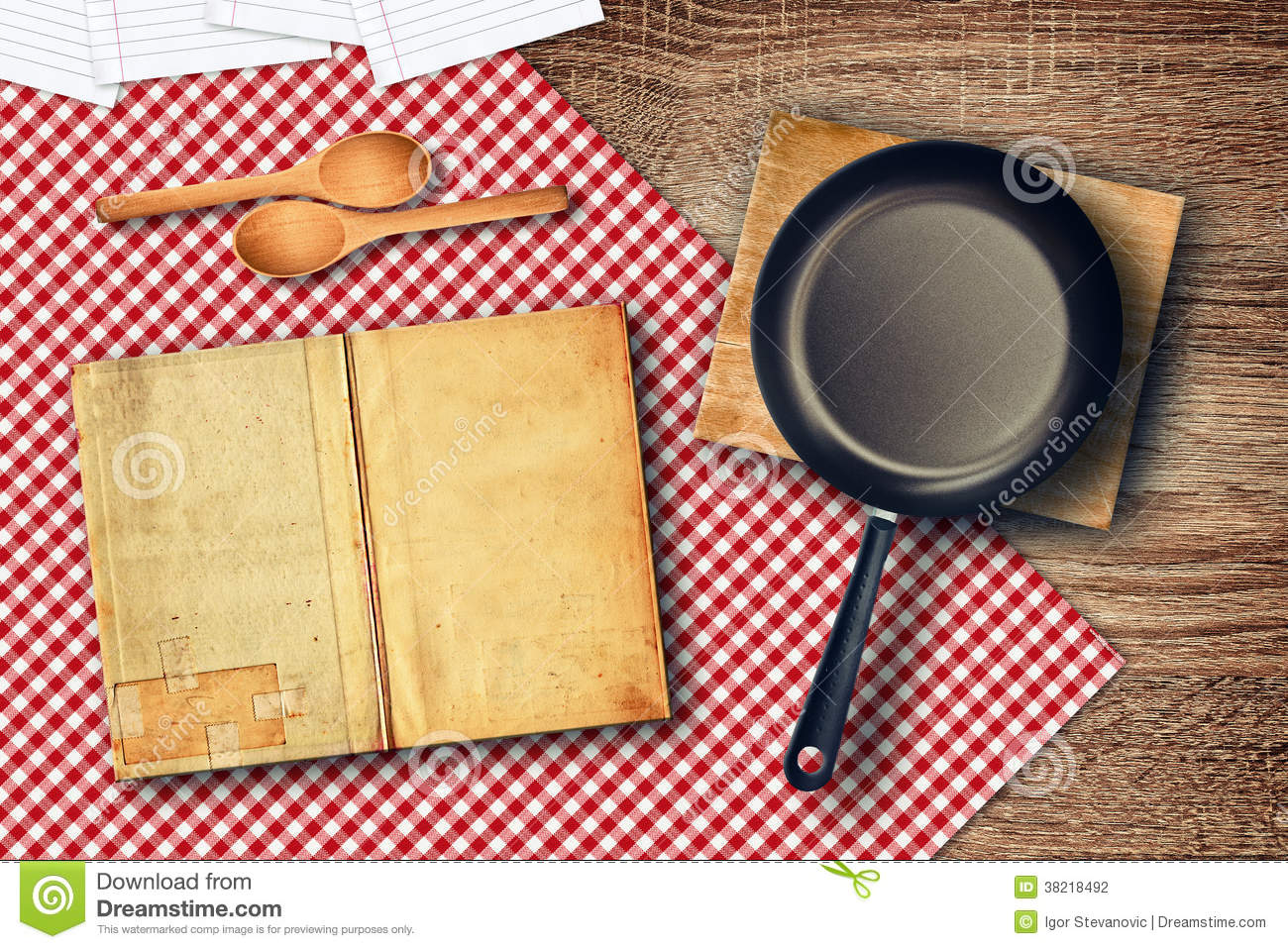 food preparation on kitchen table stock photo image 38218492