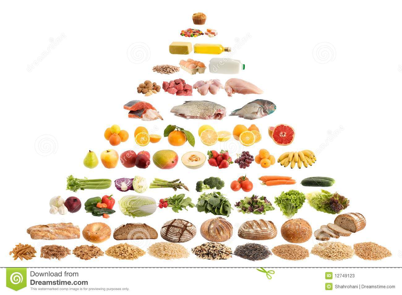 Food pyramid guide stock image. Image of object, meat ...